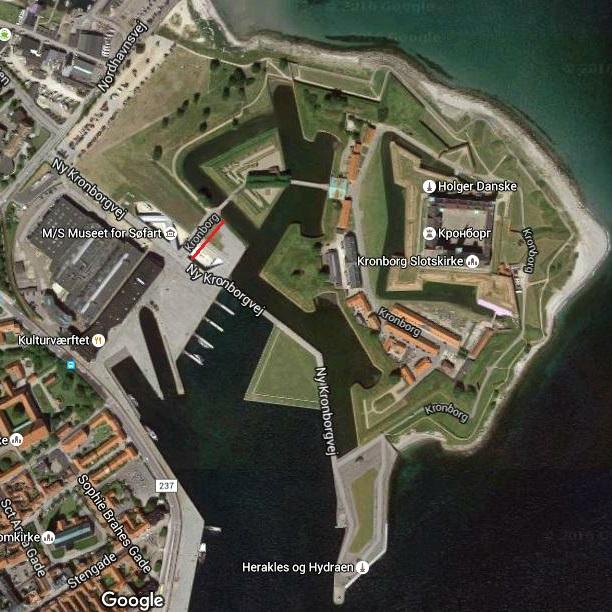 Пригороды Копенгагена - Эльсинор карта