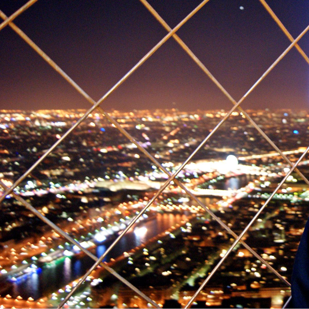 Эйфелева башня - вид сверху