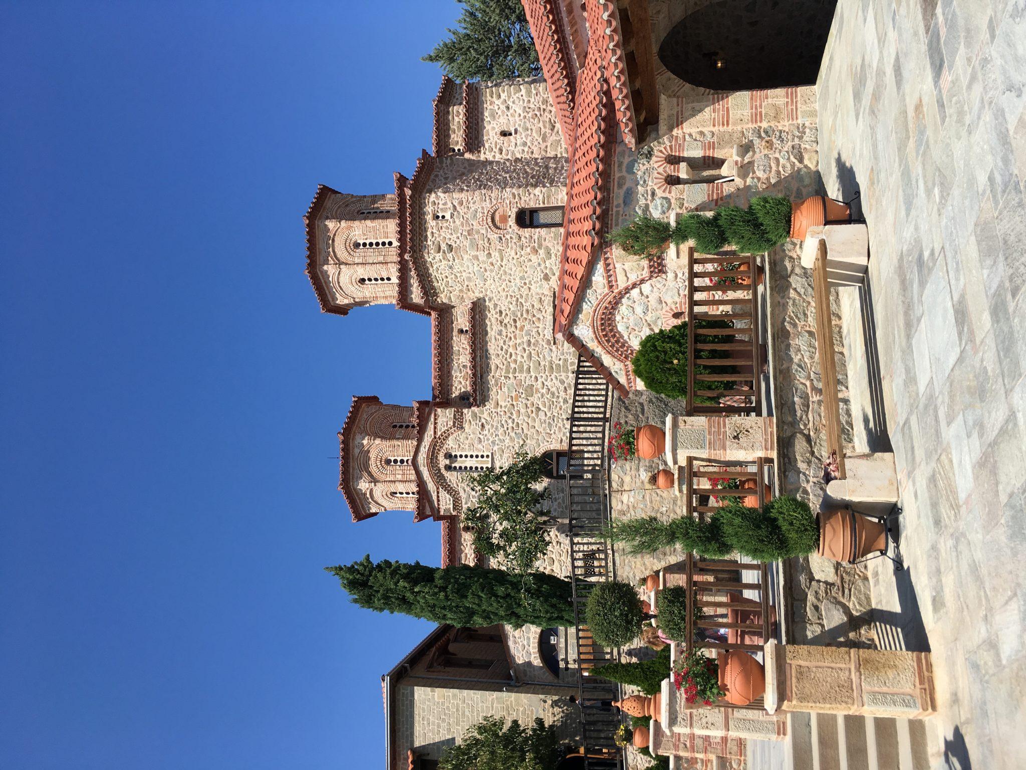 Территория монастыря святого Варлаама, Метеоры, Греция