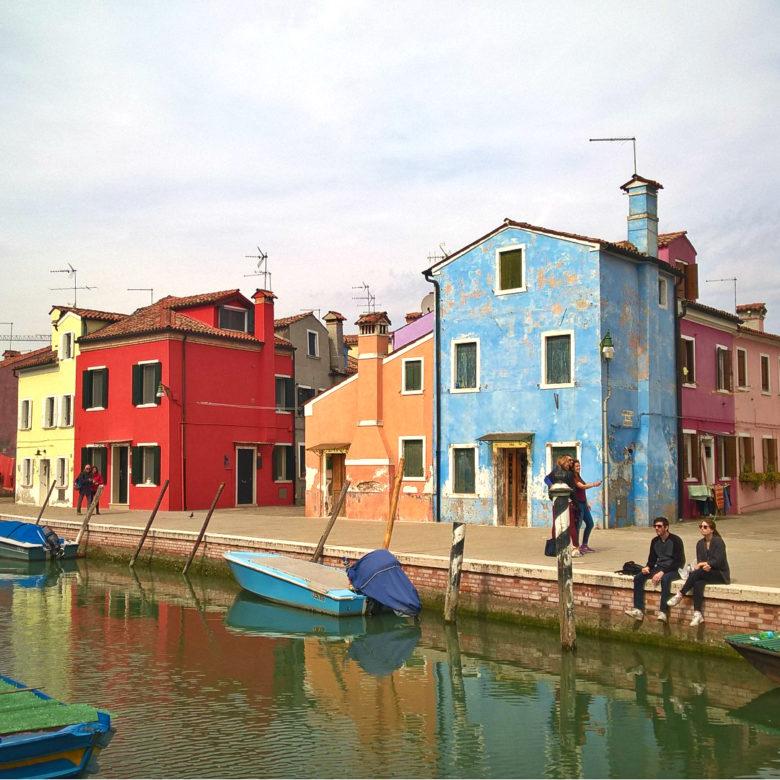 Бурано или итальянский центр разноцветных домиков