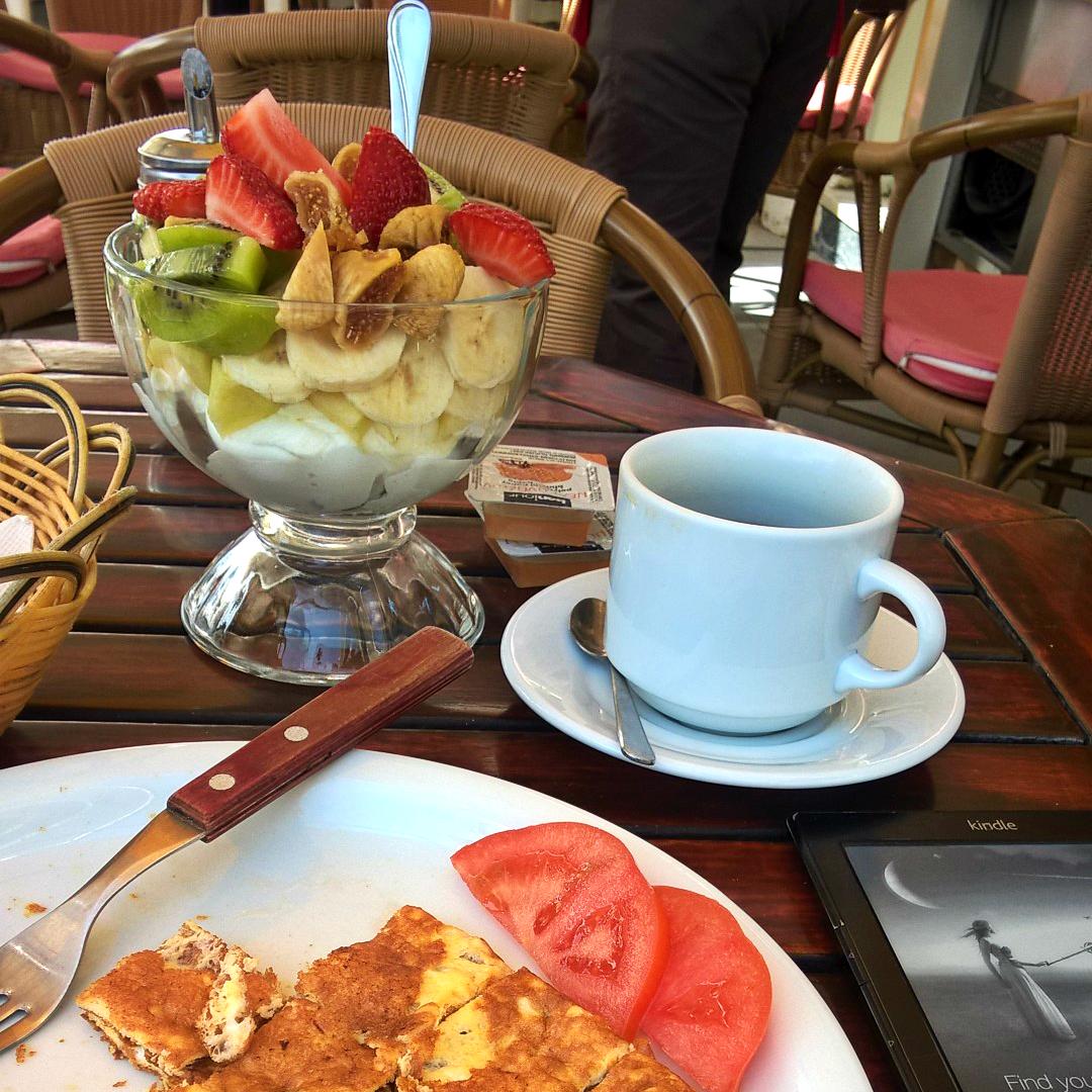 завтрак на Санторини