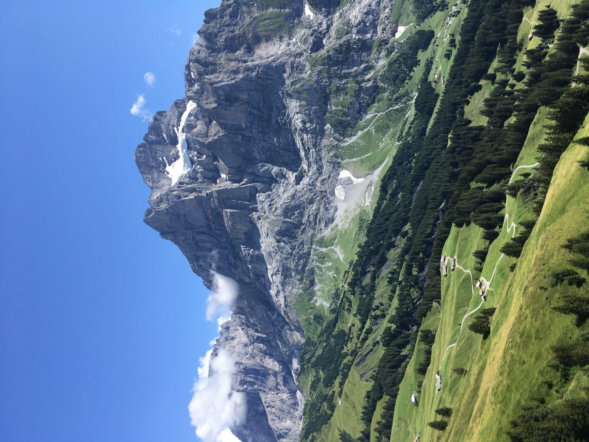 Виды на Альпы с подъёмника First в Гриндельвальде, Швейцария