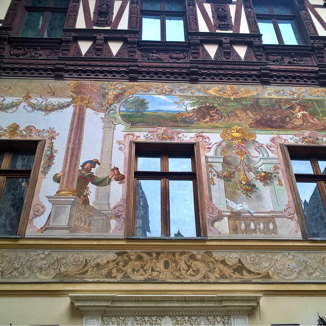 Замок Пелеш, Румыния - фасады