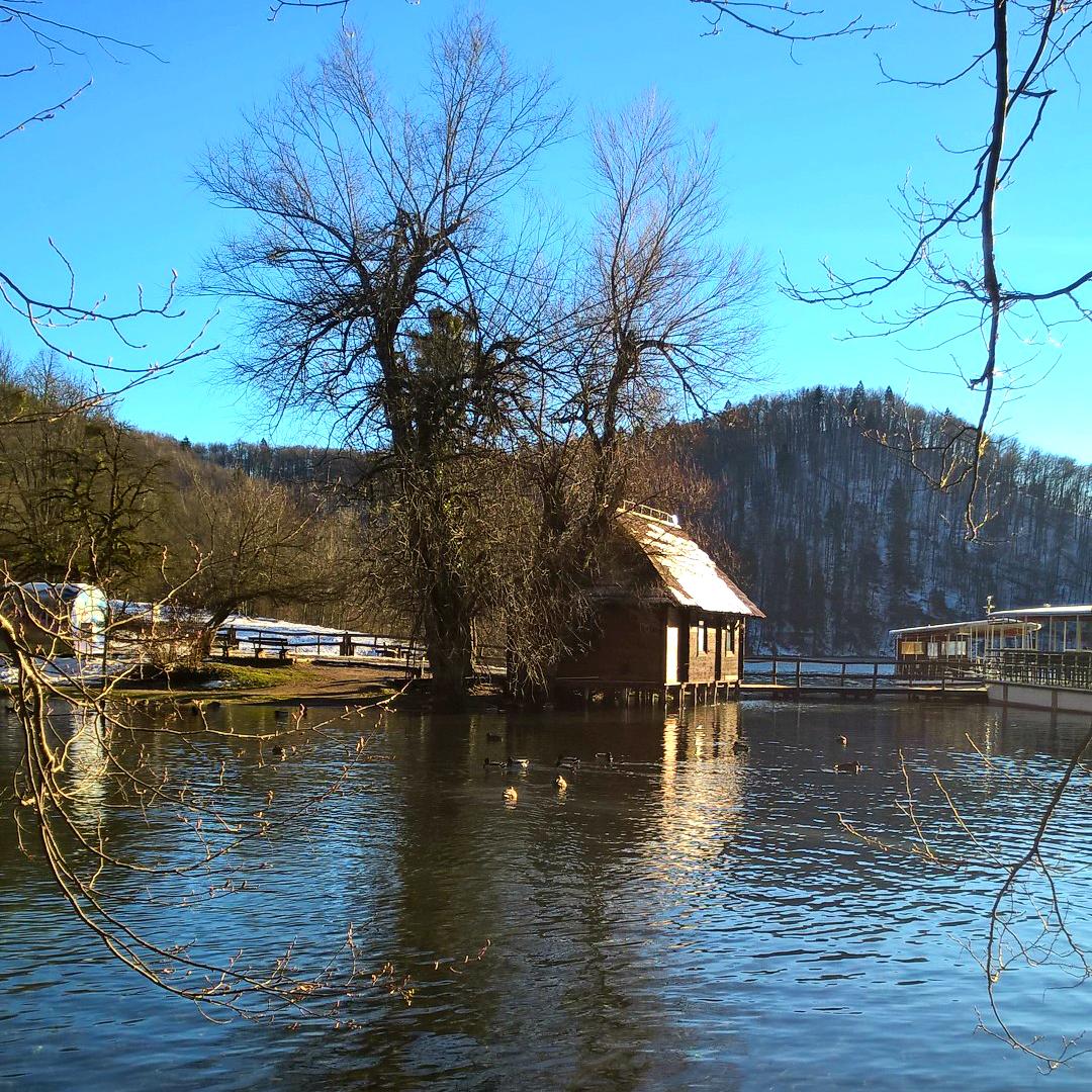 Плитвицкие озёра зимой