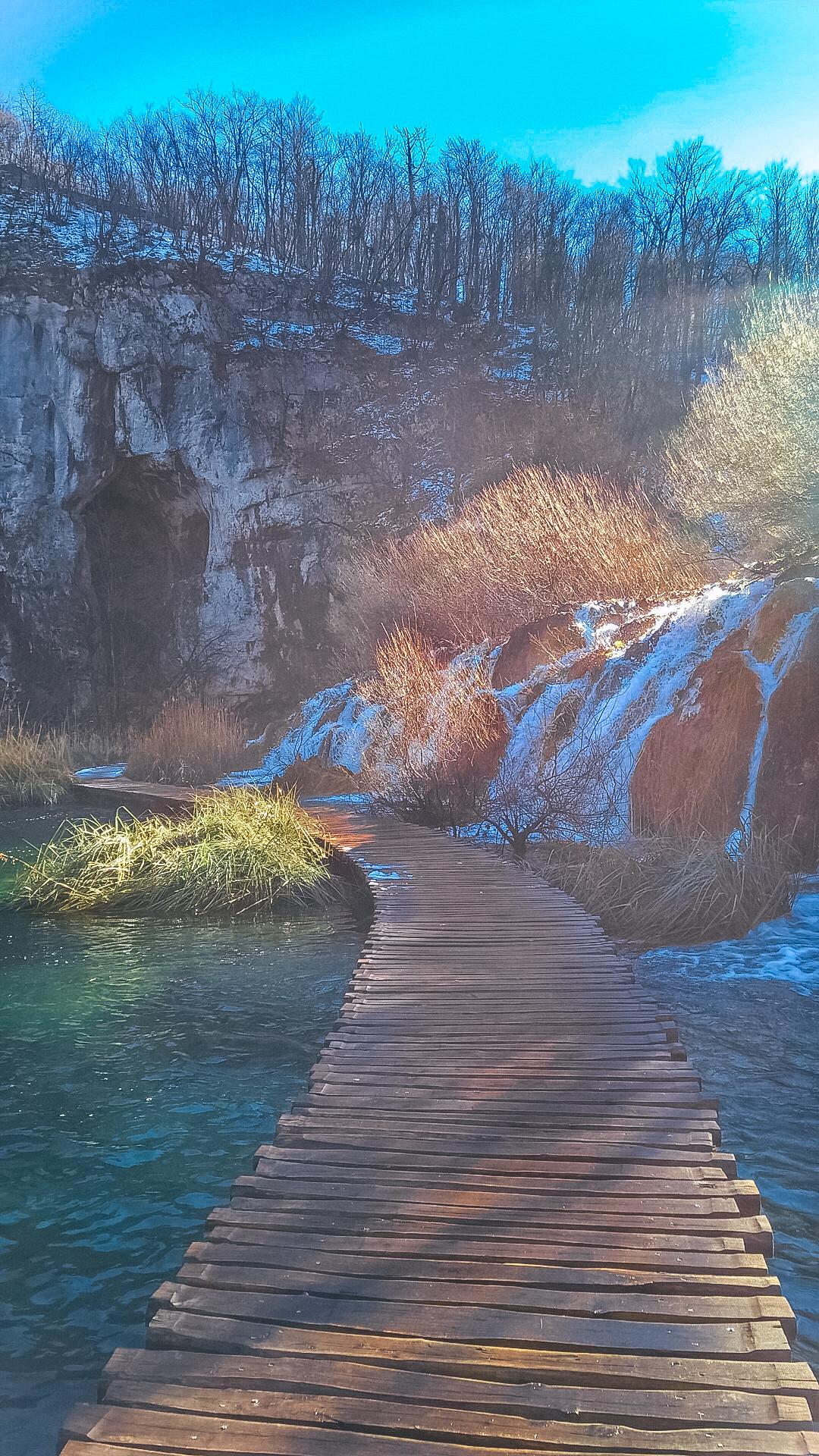 Плитвицкие озера зимой, Хорватия