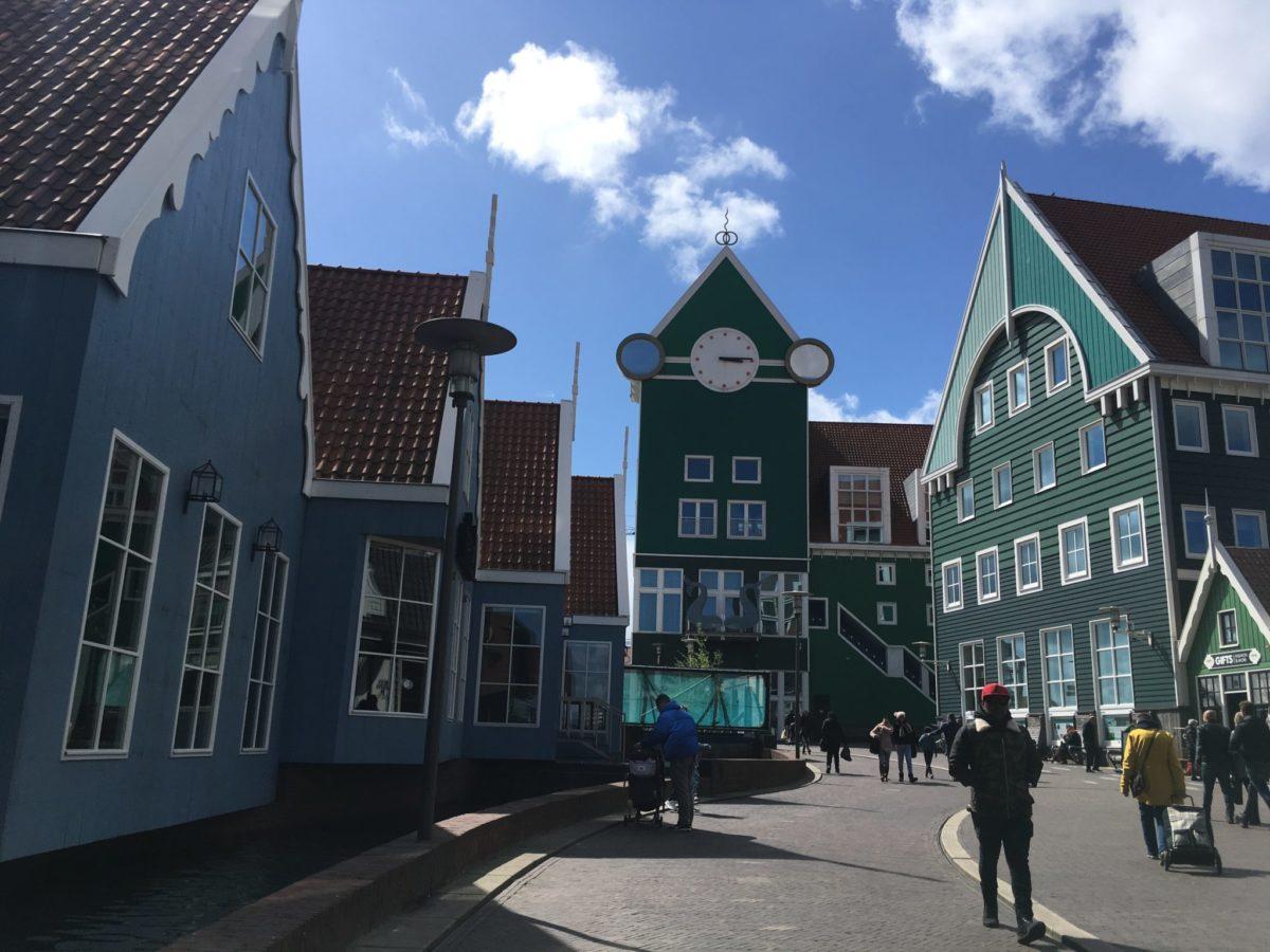 Домики города Заандам, Нидерланды