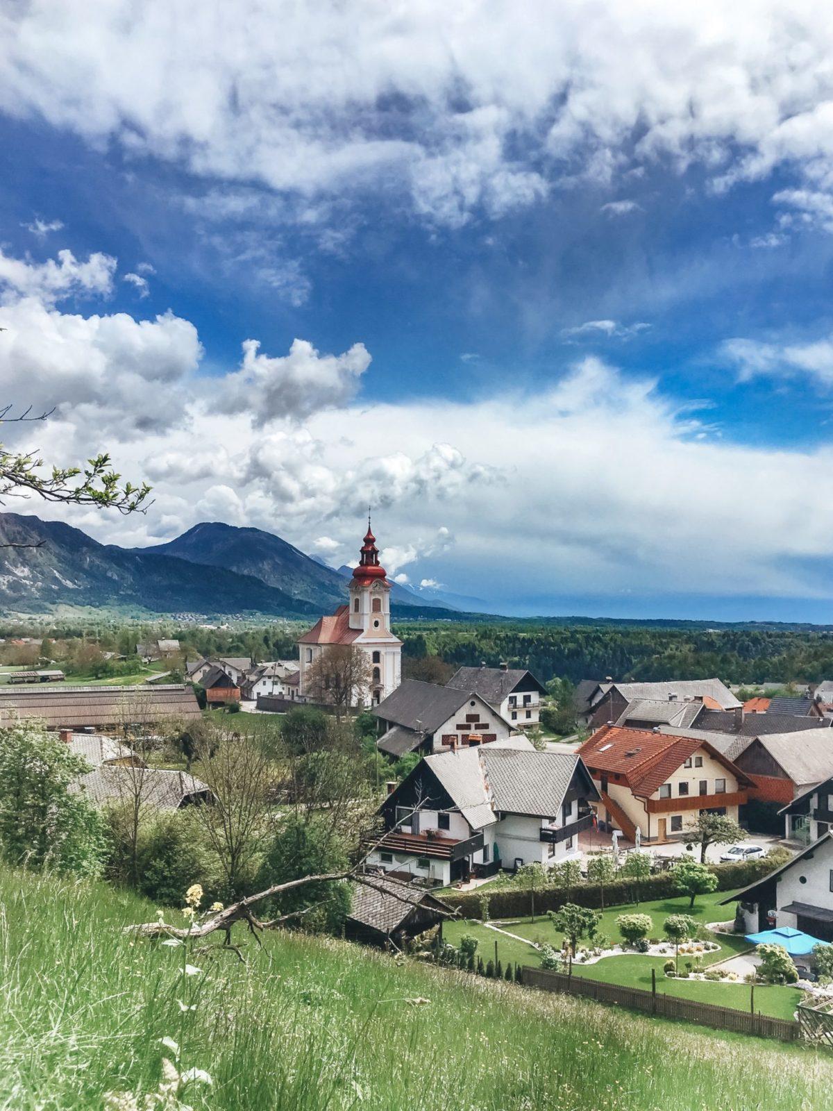 Словенские деревушки в районе озера Блед