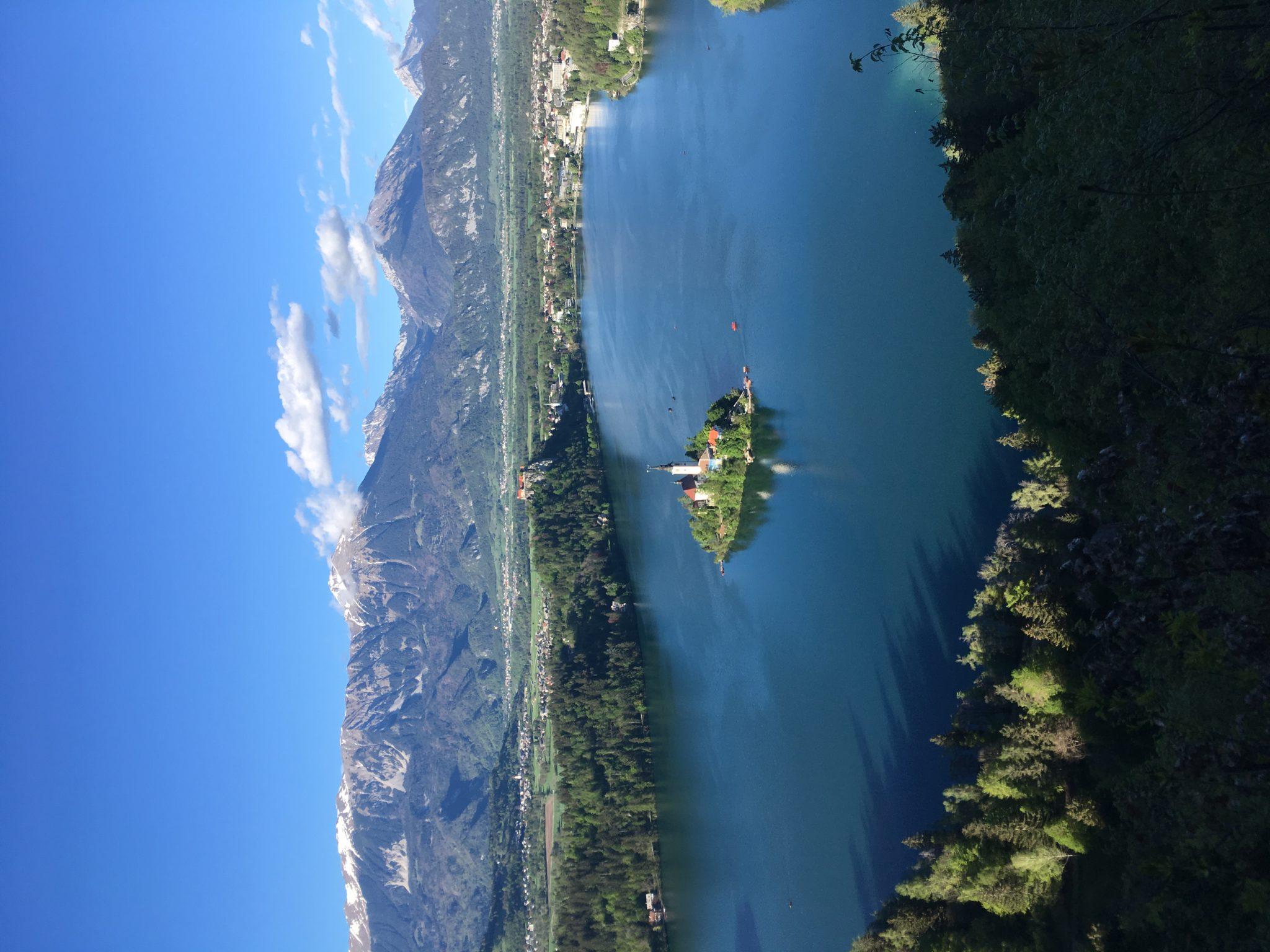Вид на озеро Блед, Словения