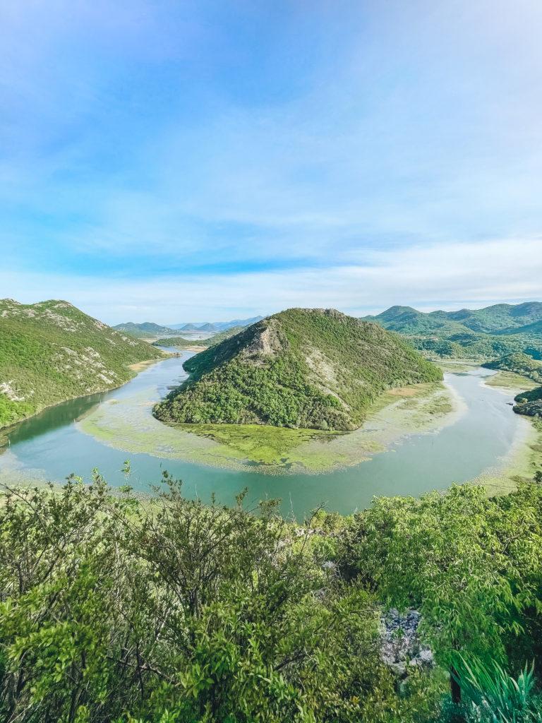 Скадарское озеро - вид сверху - топ мест в Черногории